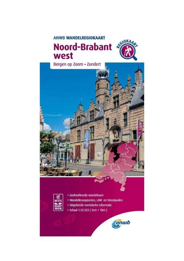 WRK-32 Noord-Brabant west   ANWB wandelkaart 1:33.333 9789018046668  ANWB Wandelregiokaarten 1:33.333  Wandelkaarten Noord-Brabant