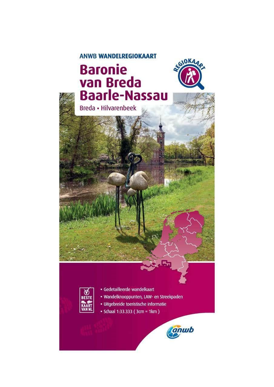 WRK-33 Baronie van Breda, Baarle-Nassau | wandelkaart 1:33.333 9789018046675  ANWB Wandelregiokaarten 1:33.333  Wandelkaarten Noord-Brabant
