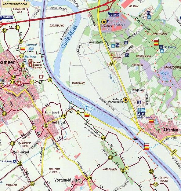 WRK-36 Maashorst | ANWB wandelkaart 1:33.333 9789018046705  ANWB Wandelregiokaarten 1:33.333  Wandelkaarten Noord-Brabant