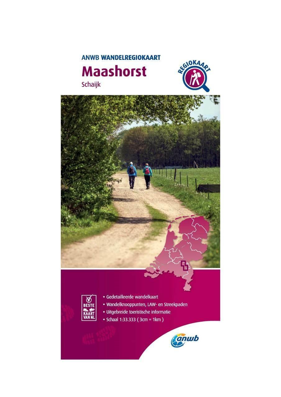 WRK-36 Maashorst | wandelkaart 1:33.333 9789018046705  ANWB Wandelregiokaarten 1:33.333  Wandelkaarten Noord-Brabant