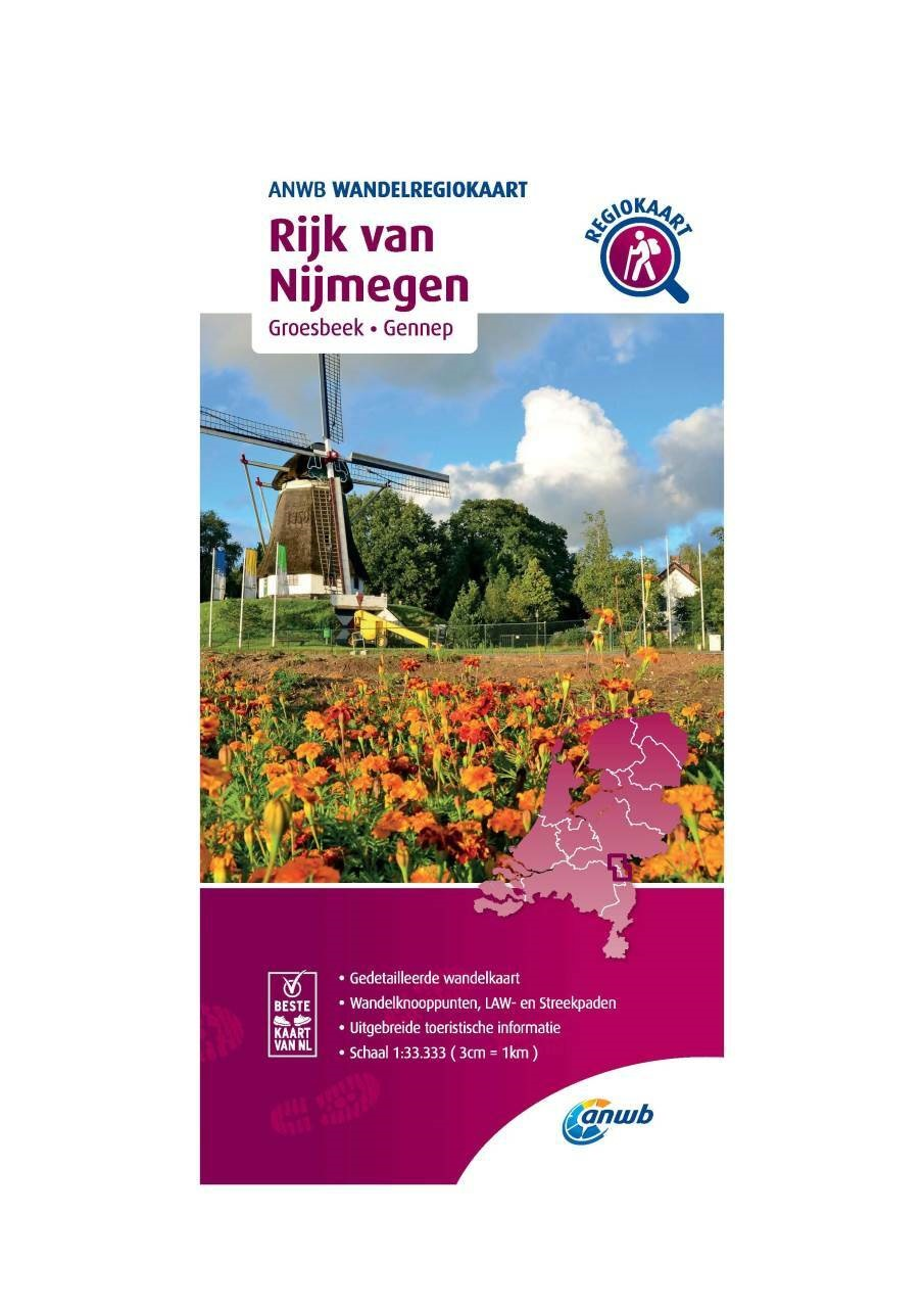 WRK-37 Rijk van Nijmegen | wandelkaart 1:33.333 9789018046712  ANWB Wandelregiokaarten 1:33.333  Wandelkaarten Nijmegen en het Rivierengebied