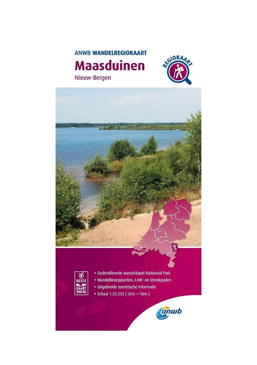 WRK-38 Maasduinen | wandelkaart 1:33.333 9789018046729  ANWB Wandelregiokaarten 1:33.333  Wandelkaarten Noord- en Midden-Limburg