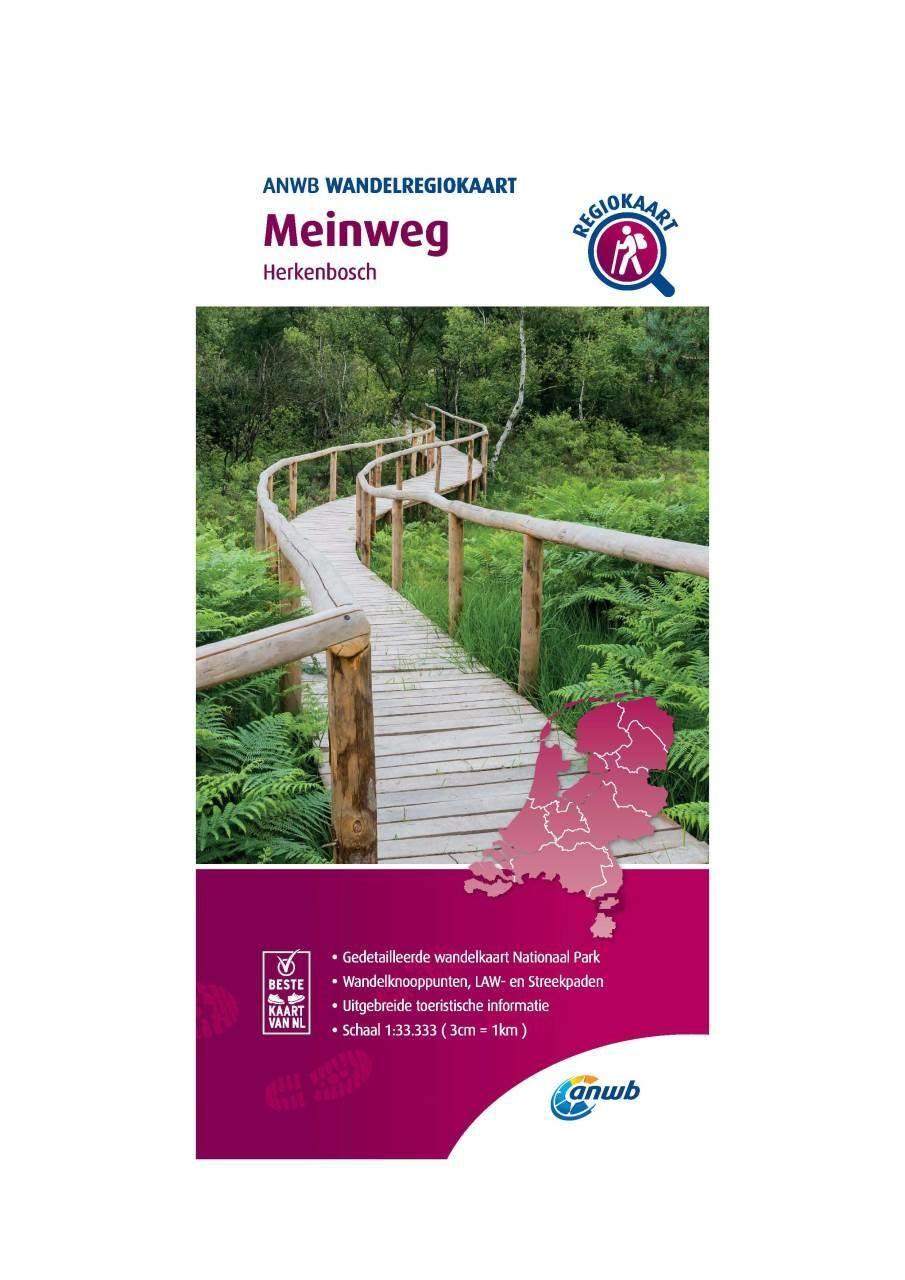 WRK-39 Meinweg | wandelkaart 1:33.333 9789018046736  ANWB Wandelregiokaarten 1:33.333  Wandelkaarten Noord- en Midden-Limburg
