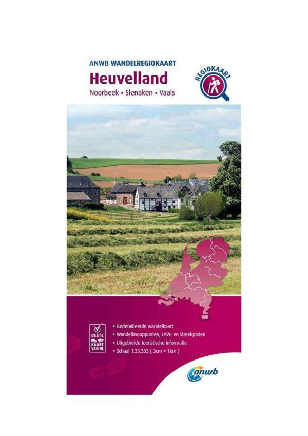 WRK-40 Heuvelland | wandelkaart 1:33.333 9789018046743  ANWB Wandelregiokaarten 1:33.333  Wandelkaarten Maastricht en Zuid-Limburg