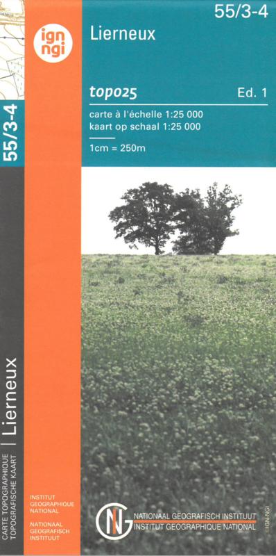 NGI-55/3-4  Bra-Lierneux, Manhay | topografische wandelkaart 1:20.000 9789462352360  NGI Belgie 1:20.000/25.000  Wandelkaarten Wallonië (Ardennen)