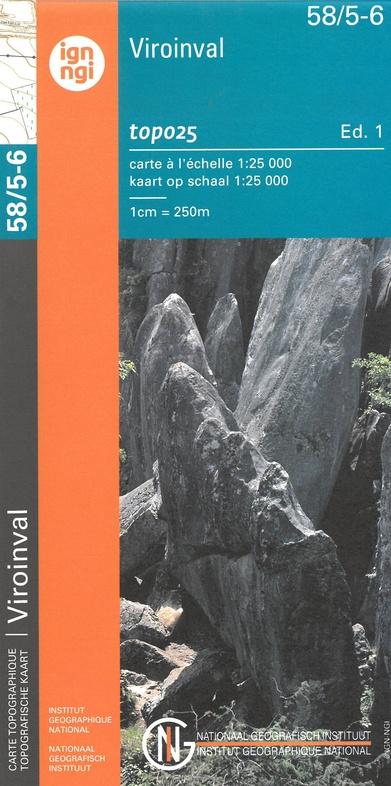 NGI-58/5-6  Olloy sur Viroin - Treignes, Viroinval | topografische wandelkaart 1:20.000 9789462353893  NGI Belgie 1:20.000/25.000  Wandelkaarten Wallonië (Ardennen)