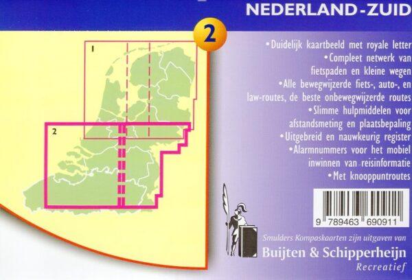 De Sterkste Fietskaart van NL (1:200.000): Midden en Zuid 9789463690911  Buijten & Sch./Smulders DSF  Fietskaarten Nederland, Zuid Nederland