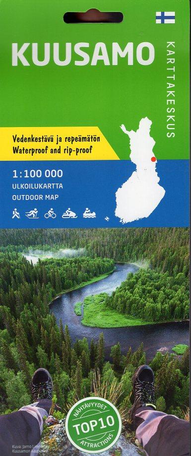 Kuusamo 1:100.000 9789522664051  Genimap Oy Wandelkaarten Finland  Wandelkaarten Finland