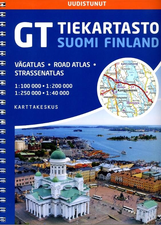 Wegenatlas Finland 1/200.000 / 100.000 9789522666345  Genimap Oy Wegenatlassen  Wegenatlassen Finland
