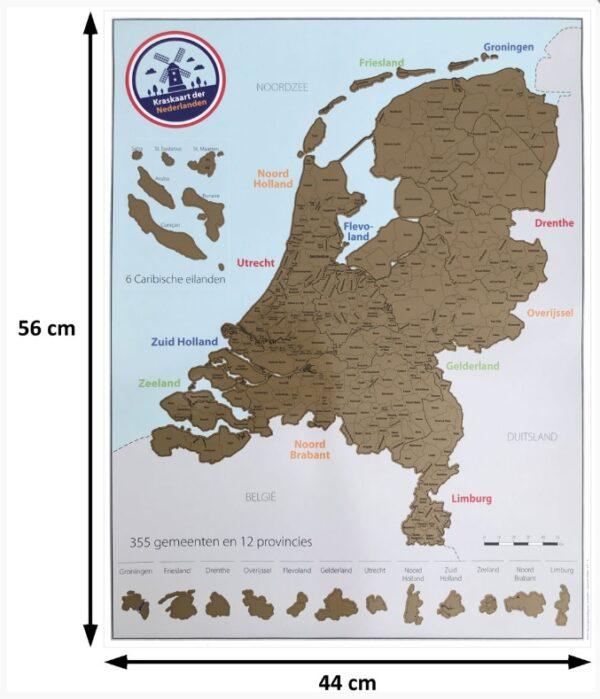 Kraskaart der Nederlanden KRSKRTNED  Bubble Up   Wandkaarten Nederland