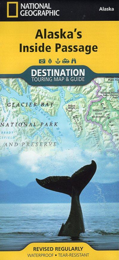 Alaska's Inside Passage 1:880.000 9781597754514  National Geographic   Landkaarten en wegenkaarten Alaska