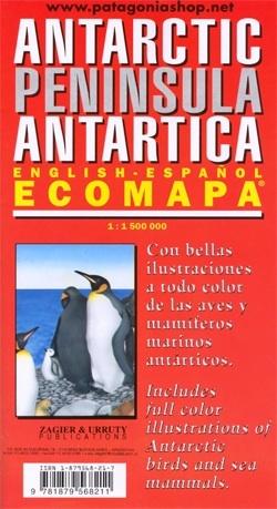 Antarctica: Antarctic Peninsula  | overzichtskaart 1:1.500.000 9781879568211  Zagier & Urruty   Landkaarten en wegenkaarten Antarctica