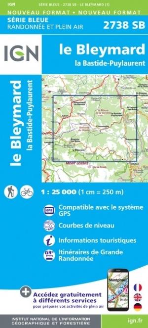 SB-2738SB La Bastide, Puylaurent    wandelkaart 1:25.000 9782758546283  IGN IGN 25 Cevennen & Languedoc  Wandelkaarten Cevennen, Languedoc