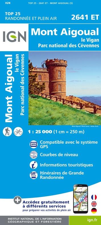2641ET  Mont Aigoual, Le Vigan | wandelkaart 1:25.000 9782758546542  IGN TOP 25  Wandelkaarten Cevennen, Languedoc