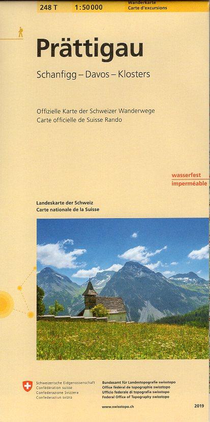 248T  Prättigau [2019] 9783302302485  Bundesamt / Swisstopo SAW 1:50.000  Wandelkaarten Graubünden, Tessin