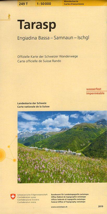 249T  Tarasp, Samnaun [2019] 9783302302492  Bundesamt / Swisstopo SAW 1:50.000  Wandelkaarten Graubünden, Tessin