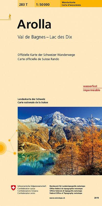 283T  Arolla [2019] 9783302302836  Bundesamt / Swisstopo SAW 1:50.000  Wandelkaarten Wallis