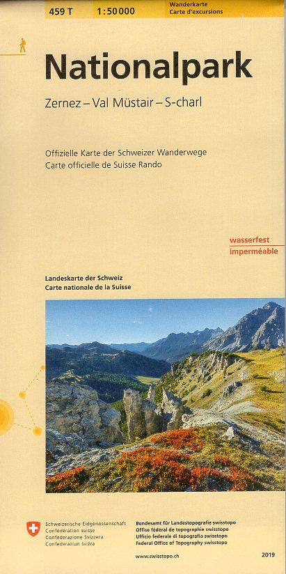 459T  Zernez,Ofenpass, Val Müstair, S-Charl [2019] 9783302304595  Bundesamt / Swisstopo SAW 1:50.000  Wandelkaarten Graubünden, Tessin
