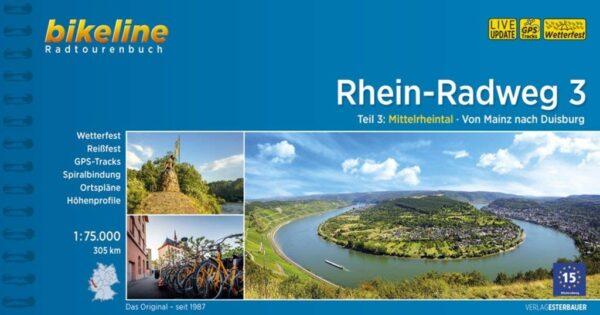 Bikeline Rhein-Radweg 3   fietsgids 9783850008655  Esterbauer Bikeline  Fietsgidsen, Meerdaagse fietsvakanties West-Duitsland