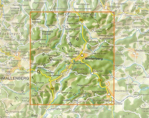 Sauerland - Winterberg en omgeving | wandelkaart 1:25.000 9783866369146  Grünes Herz   Wandelkaarten Sauerland