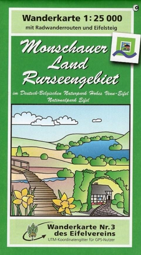 EV-03  Monschauer Land - Rurseengebiet | wandelkaart 1:25.000 9783944620299  Eifelverein Wandelkaarten Eifel  Wandelkaarten Eifel