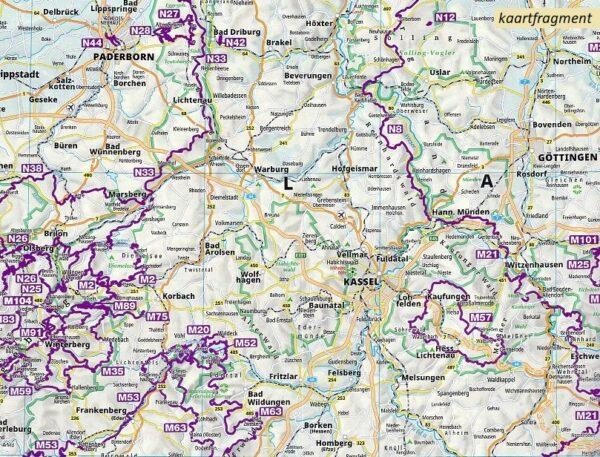 KP-2561 KOMPASS Fernwegekarte Qualitätswanderwege Deutschland 9783990448168  Kompass Wandelkaarten   Wandelkaarten Duitsland