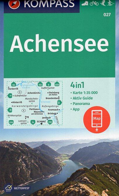 KP-027 Achensee | Kompass wandelkaart 9783990448588  Kompass Wandelkaarten Kompass Oostenrijk  Wandelkaarten Tirol & Vorarlberg