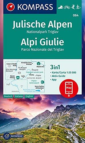 KP-064 Julische Alpen NP Triglav | Kompass wandelkaart 9783990448700  Kompass Wandelkaarten   Wandelkaarten Slovenië