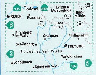 KP-196 Mittlerer Bayerischer Wald | Kompass wandelkaart 9783990448823  Kompass Wandelkaarten Kompass Duitsland  Wandelkaarten Beierse Woud, Regensburg, Passau