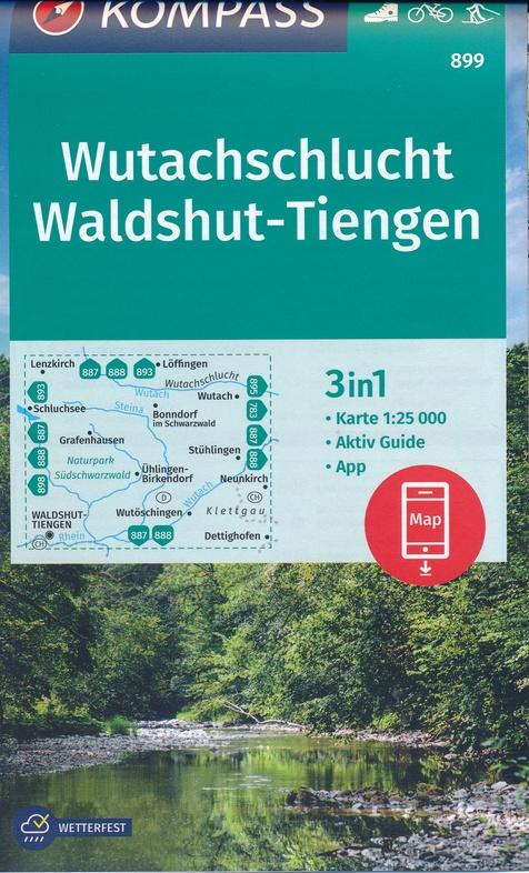 KP-899 Wutachschlucht/Waldshut | Kompass 9783990448854  Kompass Wandelkaarten Kompass Duitsland  Wandelkaarten Zwarte Woud