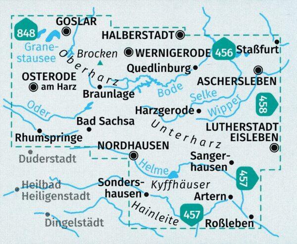 KP-450 Harz 1:50.000 9783990449172  Kompass Wandelkaarten Kompass Duitsland  Wandelkaarten Harz