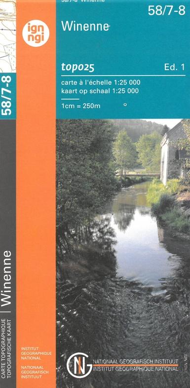 NGI-58/7-8  Winenne | topografische wandelkaart 1:20.000 9789462353909  NGI Belgie 1:20.000/25.000  Wandelkaarten Wallonië (Ardennen)