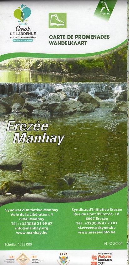 Érezée/Manhay 1:25.000 9789462354654  NGI NGI/VVV-kaarten 25d  Wandelkaarten Wallonië (Ardennen)