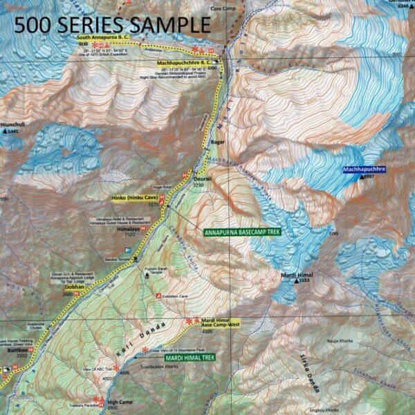 Upper Mustang | trekking map / overzichtskaart 1:100.000 9789937649193  Nepa Maps Wandelkaarten Nepal  Landkaarten en wegenkaarten Nepal