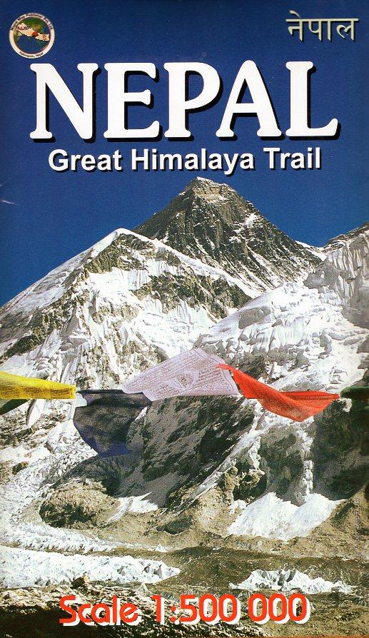 Nepal grote overzichtskaart 1:500.000, 193 x 71 cm 9789937806268  Nepa Publications   Landkaarten en wegenkaarten Nepal