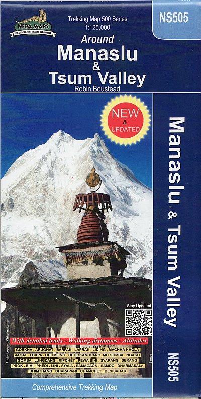 Manaslu Trekking Map 1:125.000 9799993323104  Nepa Maps Wandelkaarten Nepal  Wandelkaarten Nepal