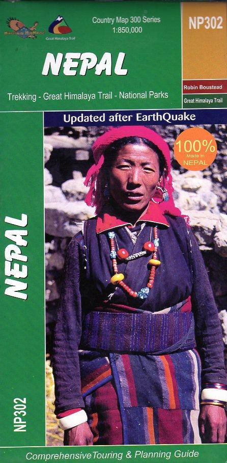 Great Himalaya Trail Map of Nepal 1:850.000 CMW604  Nepa Maps Wandelkaarten Nepal  Landkaarten en wegenkaarten Nepal