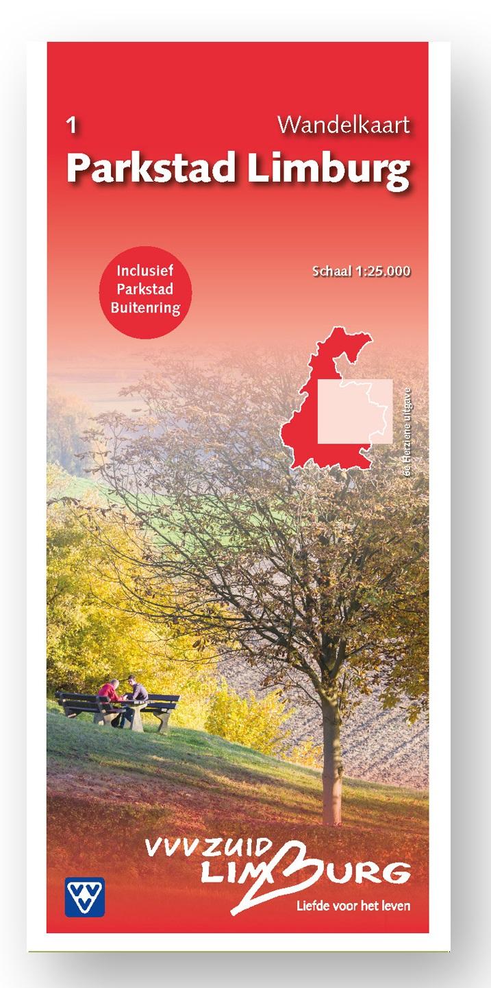 Parkstad Limburg 1:25.000 | wandelkaart 1 31484  VVV Limburg   Wandelkaarten Maastricht en Zuid-Limburg