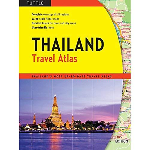 Thailand Travel Atlas 9780804851374  Periplus   Wegenatlassen Thailand