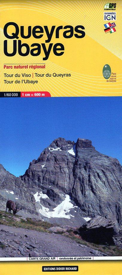 LB-06  Queyras, Ubaye | wandelkaart 1:60.000 9782344042342  Libris Éditions Didier Richard  Wandelkaarten Franse Alpen: zuid