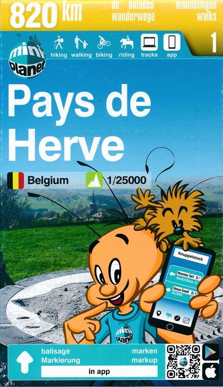 MA-01 Pays de Herve | wandelkaart  1:25.000 9782390160007  Mini-Ardenne   Wandelkaarten Wallonië (Ardennen)