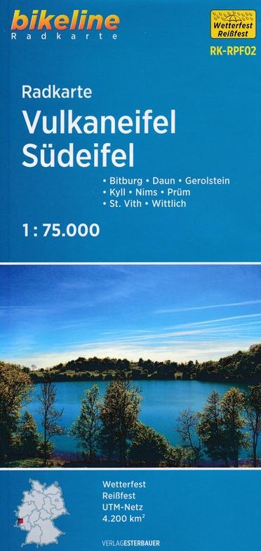 RK-RPF02  Vulkaneifel, Südeifel 1:75.000 9783850002882  Esterbauer Bikeline Radkarten  Fietskaarten Eifel