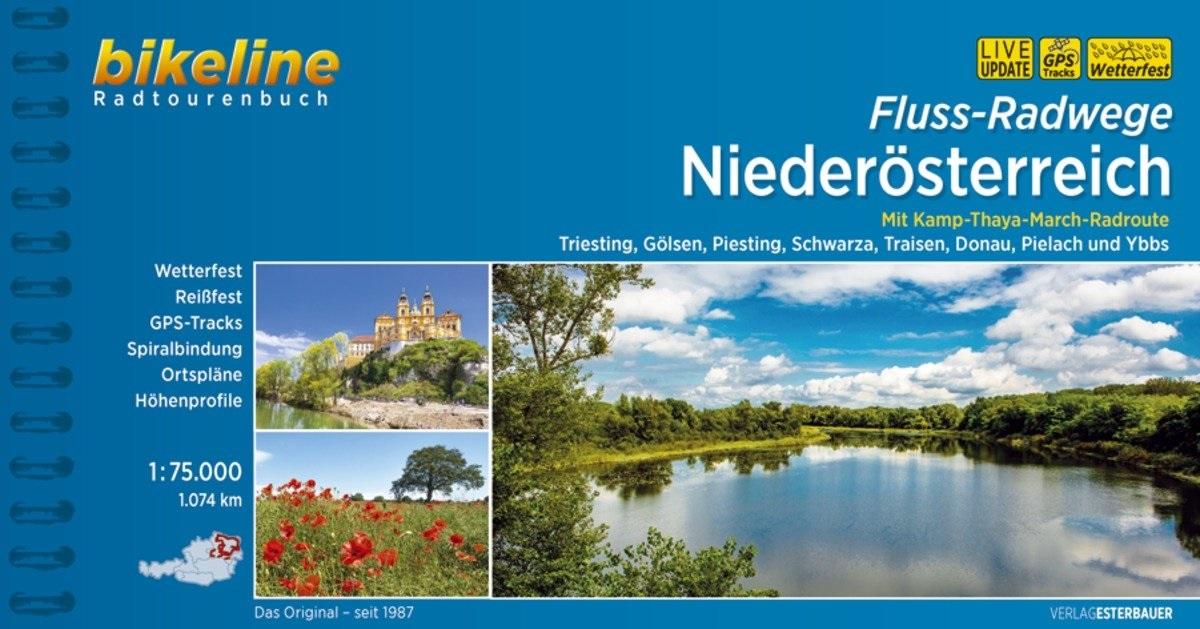 Bikeline Niederösterreich Fluss-Radwege | fietsgids 9783850008884  Esterbauer Bikeline  Fietsgidsen Wenen, Noord- en Oost-Oostenrijk
