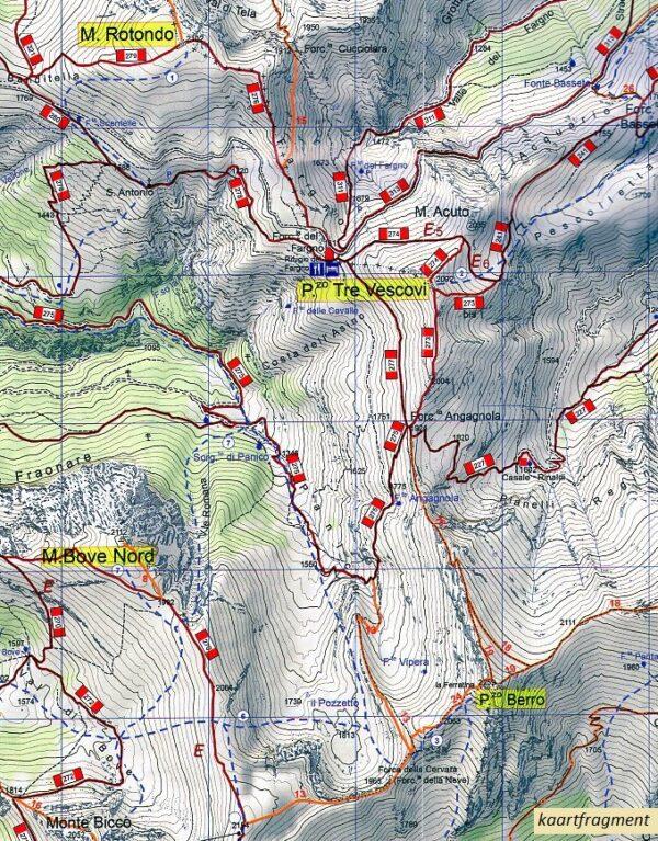 Parco Nazionale dei Monti Sibillini 1:25.000 9788886610476  SER Club Alpino Italiano  Wandelkaarten De Marken, Umbrië