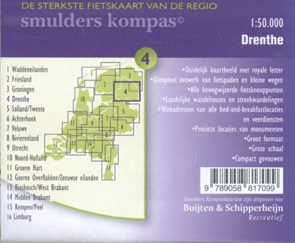 DSF-04 De sterkste fietskaart van Drenthe 1:50.000 9789463690942  Buijten & Schipperheijn DSF  Fietskaarten Oost Nederland