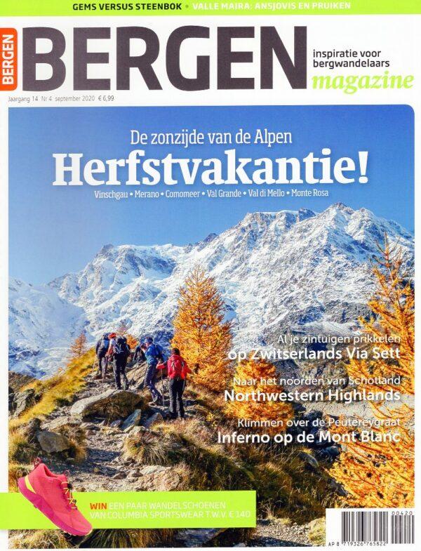 Bergen Magazine september 2020 BM2020D  Tijdschriften, Virtu Media Bergen Magazine  Wandelreisverhalen Reisinformatie algemeen, Zwitserland en Oostenrijk (en Alpen als geheel)