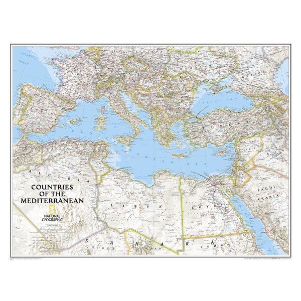 Middellandse Zee 9781597755863  National Geographic NG planokaarten  Wandkaarten Zuid-Europa / Middellandse Zee