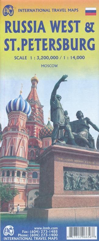 West-Rusland  | landkaart, autokaart 1:3.200.000 9781771296656  ITM   Landkaarten en wegenkaarten Europees Rusland