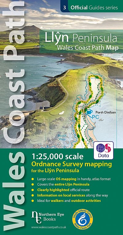Llyn Peninsula Coast Path Map | wandelkaart Wales Coast Path 9781908632609  Northern Eye Books   Wandelkaarten Wales