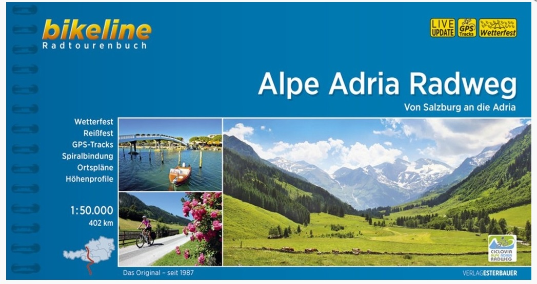 Bikeline Alpe Adria Radweg | fietsgids 9783850008730  Esterbauer Bikeline  Fietsgidsen, Meerdaagse fietsvakanties Europa
